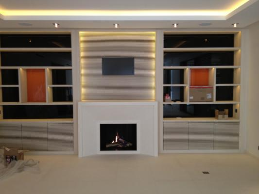 habillage metallique pour cheminees kemp. Black Bedroom Furniture Sets. Home Design Ideas